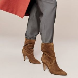 Vince Camuto Bristol short suede pointed boots